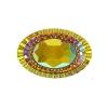 Resin Sew-on Piikki Stones 10pcs 20x30mm Oval Sun Aurora Borealis